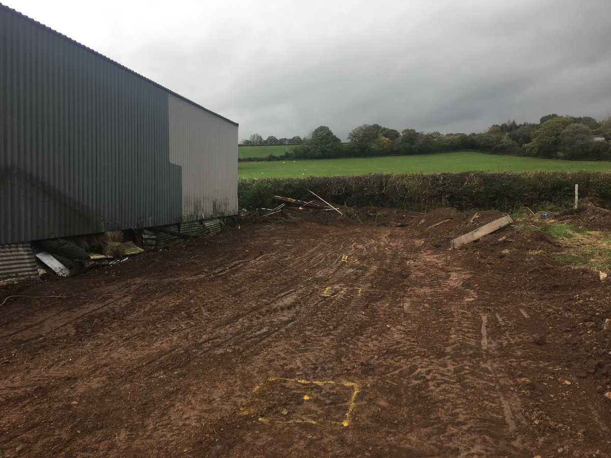 Image of agricultural lean to barn extension llanfihangel crucorney