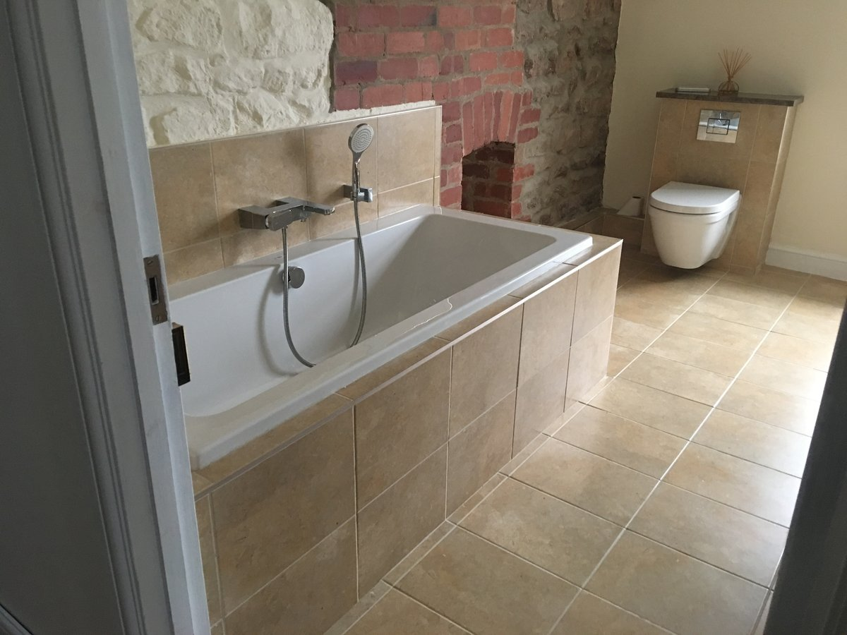 Image of bathroom renovation stone floor mork