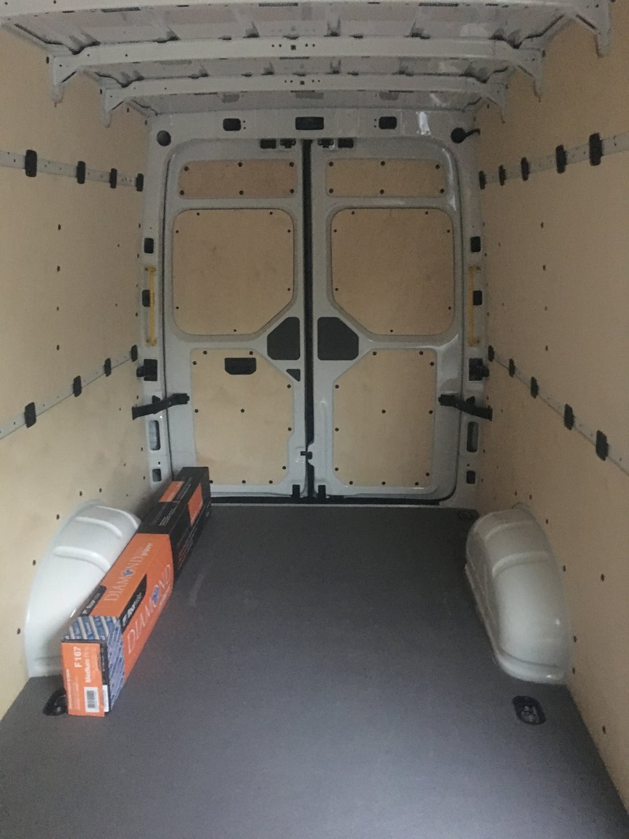 Image of custom van racking panelling monmouthshire