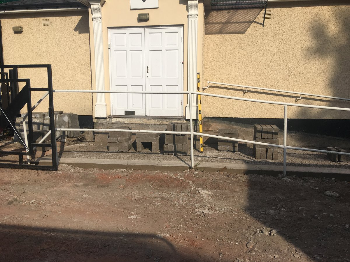 Image of disabled access ramp car park masonic hall pontypool