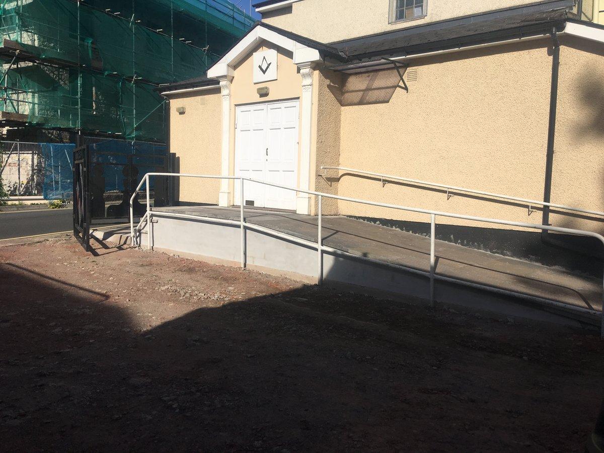 image showing disabled access ramp car park masonic hall pontypool