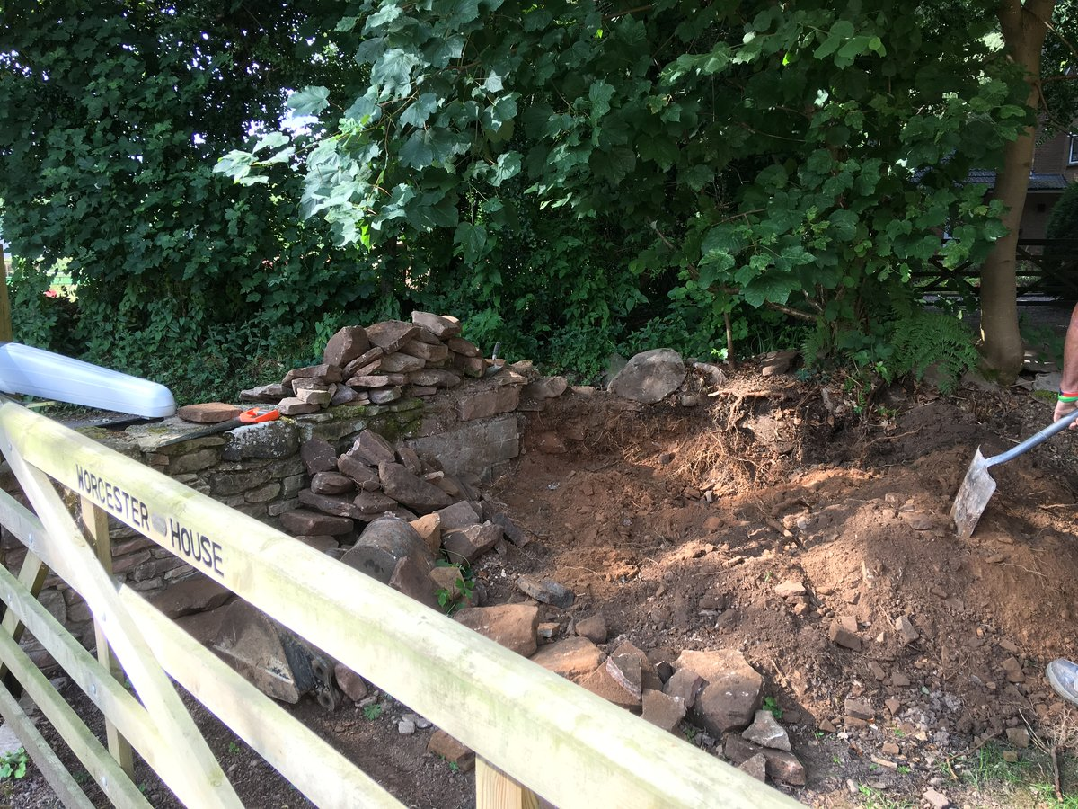 Image of dry stone walling repairs the narth