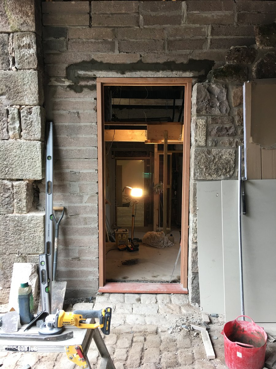 Image of external doorway doorframe and door st briavels commonn