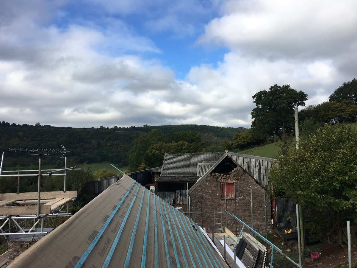 Image of farmhouse slate roof replacement cwmyoy