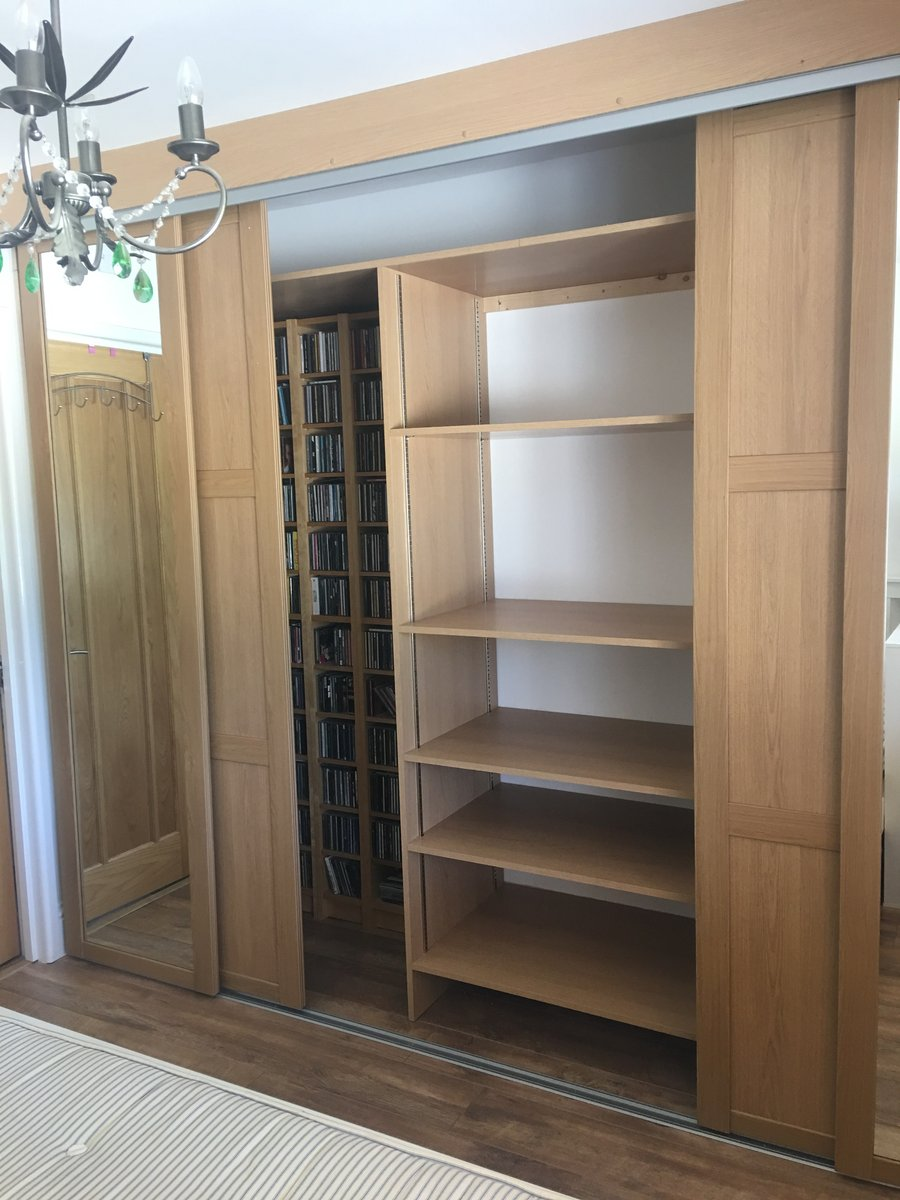 Image of fitted wardrobes before after monmouth