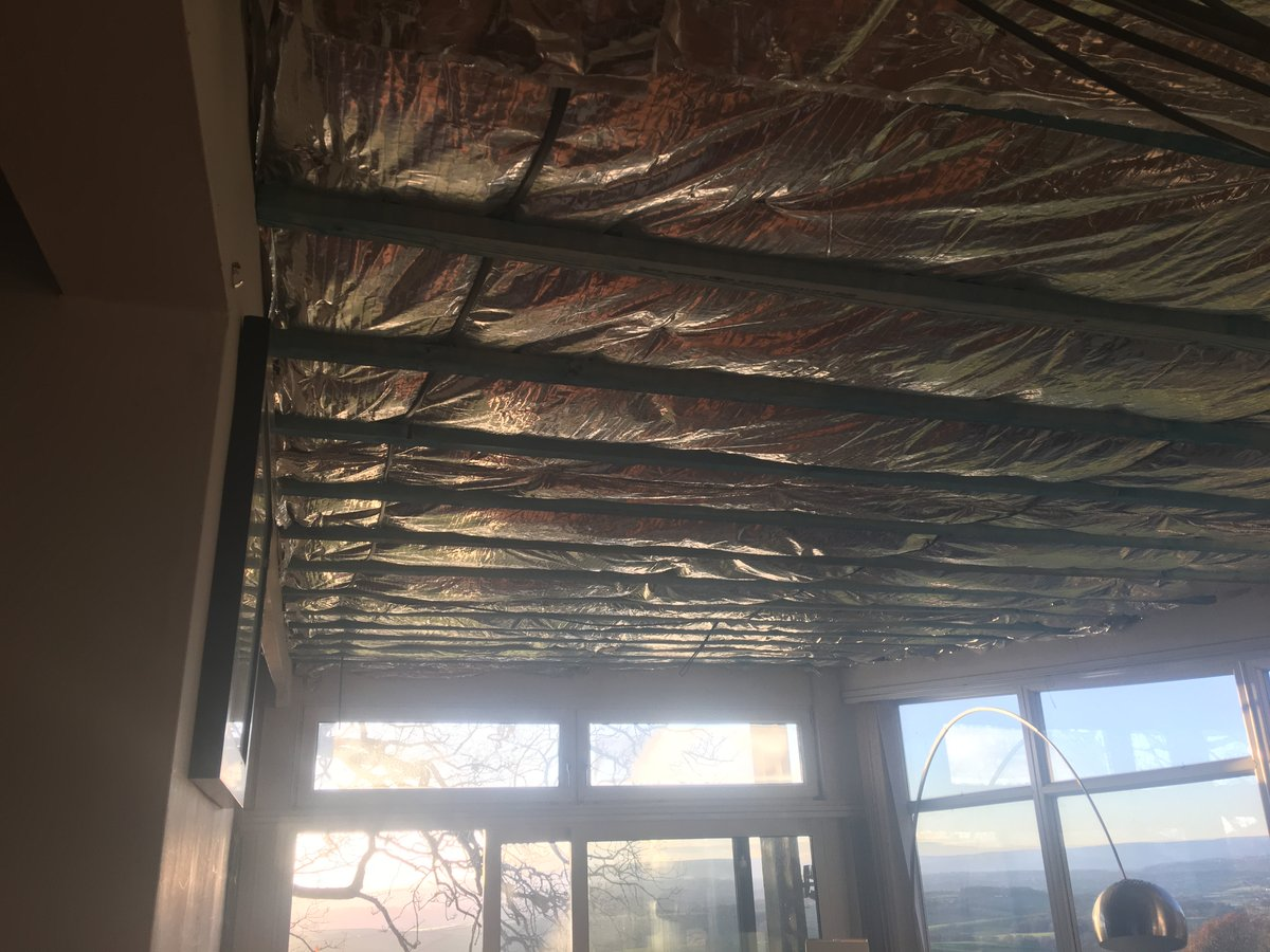 Image of insulated ceiling for living room llanishen