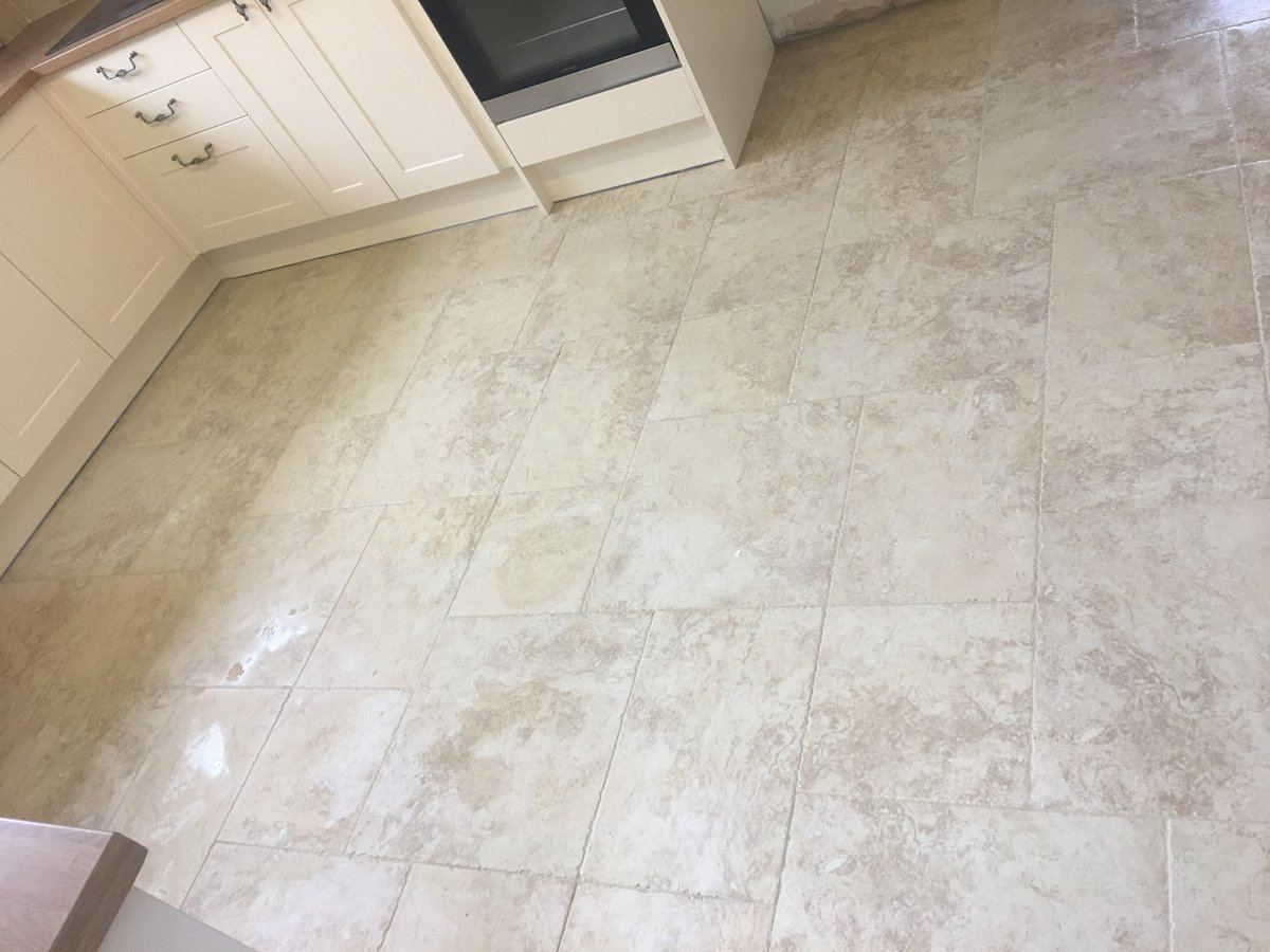 Image of kitchen floor wall stone tiling joys green