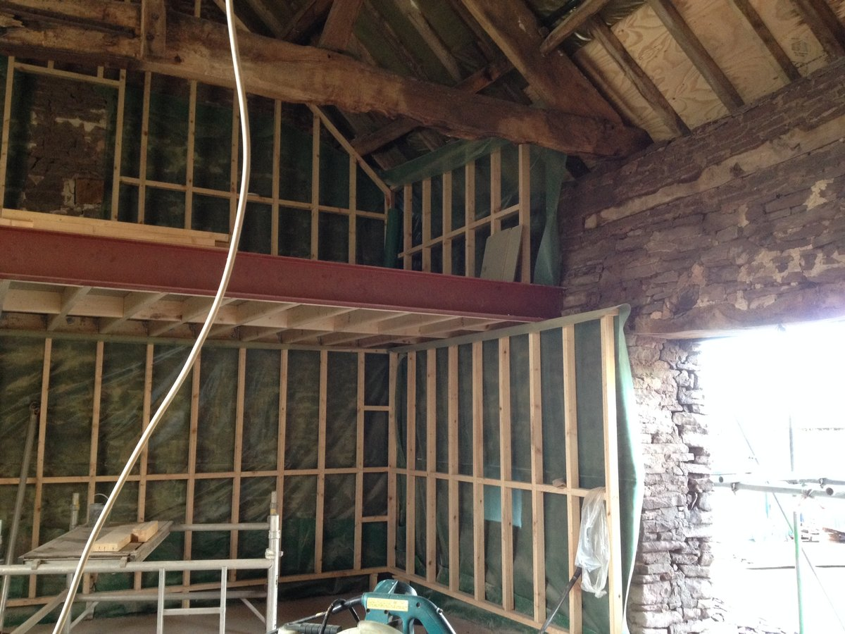 Image of Looking back at a barn conversion in Llanishen