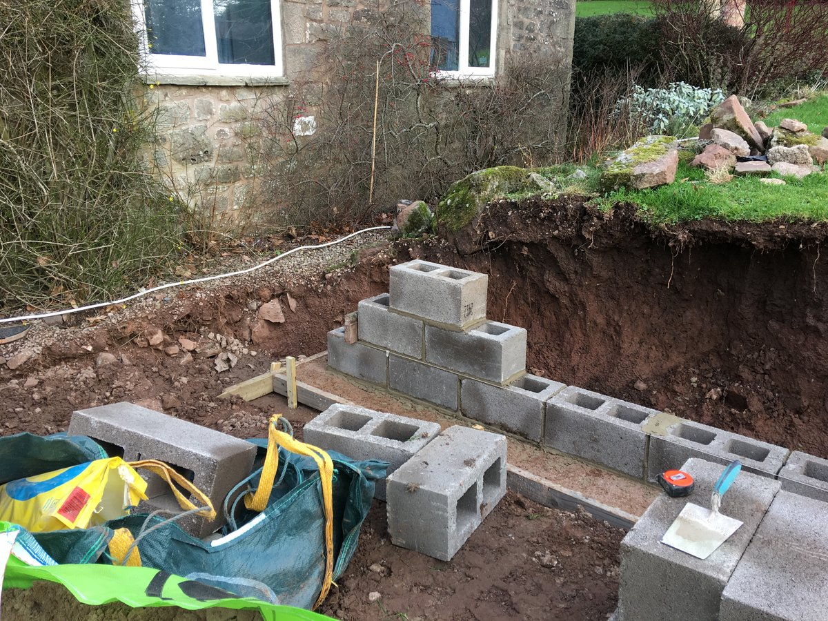 Image of new retaining wall st briavels common