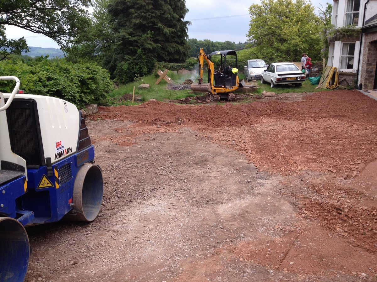 Image of path driveway patio parking space cleddon