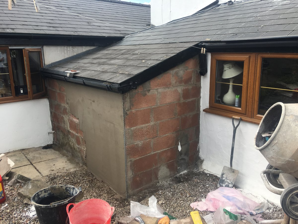 Image of rendering lean to llanfihangel crucorney