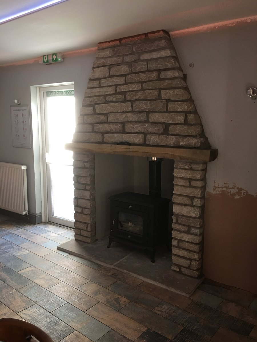 Image of somerset arms removep window replaced with log burner dingestow