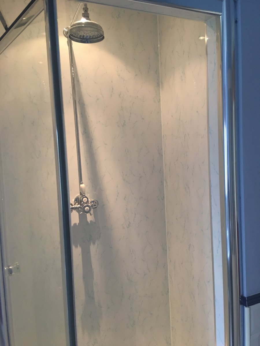Image of upvc cladding shower cubicle abergavenny