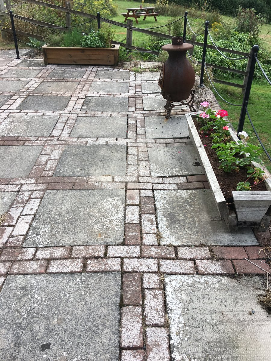 Image of walls repointed patio slabs relaid mork