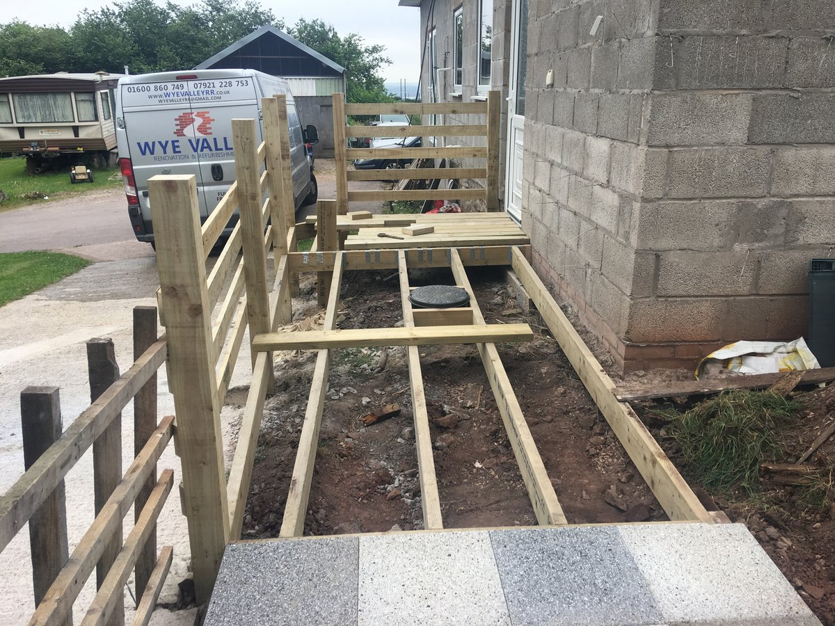 Image of wooden disabled access ramp decking st arvans
